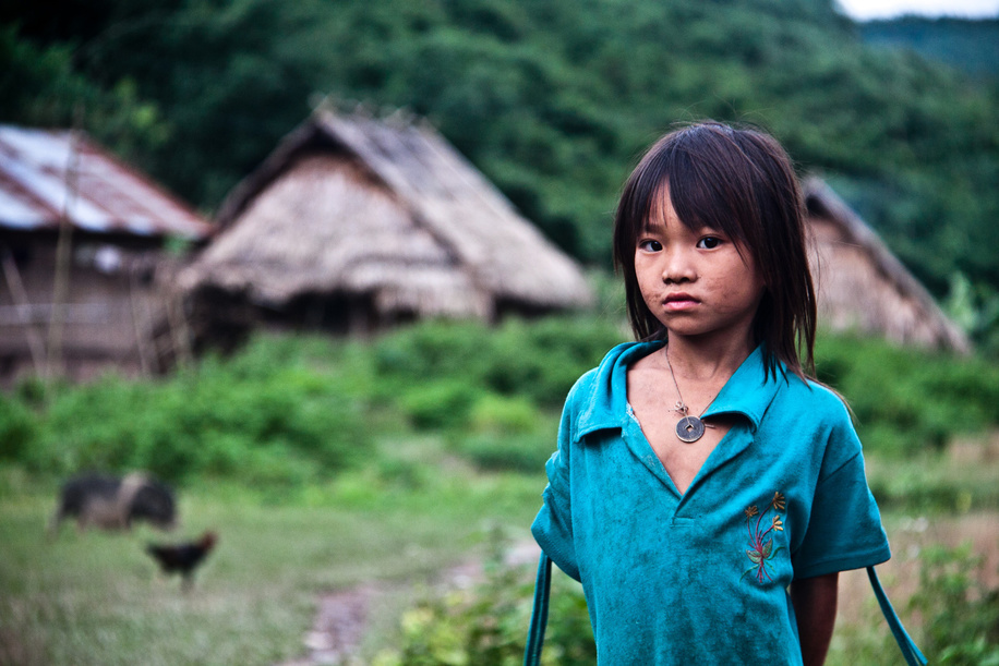 Hill tribe girl, Nam Ha National Protected Area, Laos. August 2012.  Illustration about Children's Environmental Health in Lao People's Democratic Republic