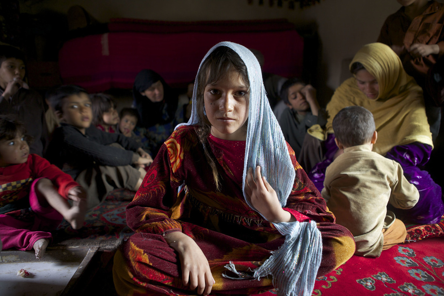 IDP camps in Afghanistan  Azita, aged 12, whose family was displaced from Kunduz to Kabul ten years ago, lives in the Charah-e-Qambar refugee camp in Kabul, Afghanistan.