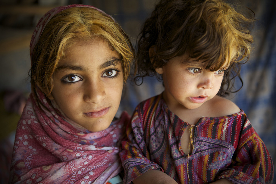 IDP camps in Afghanistan.  Afghan refugee children recently displaced from Helmand seen at the Charah-e-Qambar refugee camp.