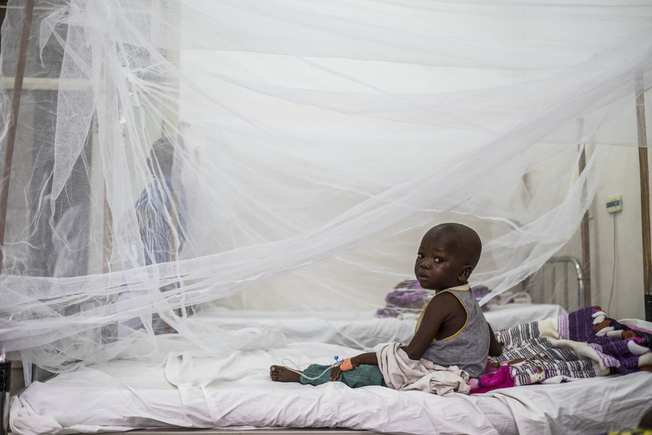 In response to the outbreak, a national coordination committee has been activated. Suspected cases of yellow fever continue to be investigated on a daily basis.  A child, a suspected yellow fever case, is pictured at the Sino-Kinois Hospital  in Kinshasa, on August 19, 2016.