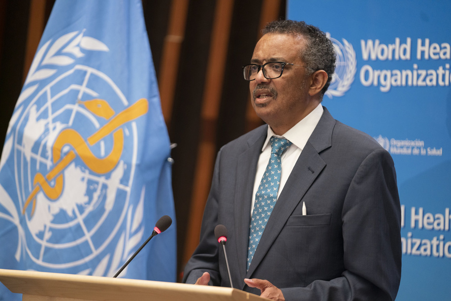 Seventy-third World Health Assembly, Geneva, Switzerland, 18-19 May 2020.  WHO Director-General, Dr Tedros Adhanom Ghebreyesus makes his opening remarks to the 73 World Health Assembly  Due to the current COVID-19 pandemic, the Seventy-third World Health Assembly will be virtual. The agenda has been reduced to fit into two days.  Title of the Officials and WHO staff reflects their respective positions at the time the photo was taken.