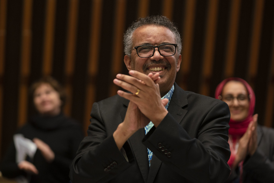 Seventy-third World Health Assembly, Geneva, Switzerland, 18-19 May 2020.  The World Health Assembly will reconvene later in the year.  WHO Director-General, Dr Tedros Adhanom Ghebreyesus during the closing session of the 73rd World Health Assembly — 19 May 2020  Title of the Officials and WHO staff reflects their respective positions at the time the photo was taken.