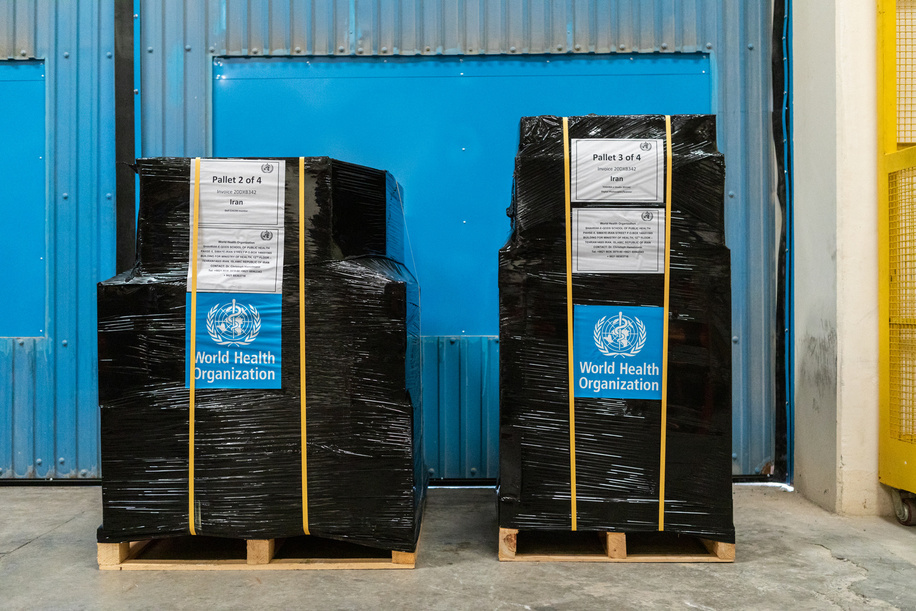 Health supplies bound for Iran are stored at a WHO warehouse in Dubai.   The World Health Organization's Health Emergencies Programme maintains a Logistics hub located within the International Humanitarian City in Dubai. The WHO/Dubai operation maintains over 17,000 square meters of temperature-controlled warehousing and manages an inventory of medicines, medical supplies, and equipment valued at USD 40 million. The operation provides support to health emergencies across the globe in response to all types of events ranging from natural disasters to outbreaks of infectious disease. Since the start of the COVID-19 pandemic, the WHO/Dubai operation has expanded to over 4 times its original size and has completed over 324 shipments to 108 destinations across all 6 WHO geographic regions.   With the implementation of a WMS (warehouse management system) including bar-coding and scanning, the operation will gain significant efficiencies in managing inventory and rapidly dispatching supplies. The Operation established a dashboard to increase the visibility of supply chain data to support the tracking and monitoring of medical supplies dispatched from the logistics hub. Most recently, in response to the blast in Beirut, Lebanon the operation responded within 24 hours by delivering over 20 metric tons of trauma and surgical supplies; clearly demonstrating the rapid response capability and advantages of maintaining a pre-positioned supply of critical medical supplies and equipment.