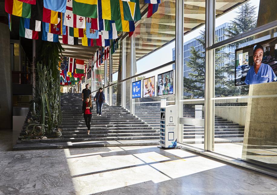 WHO headquarters: main hall