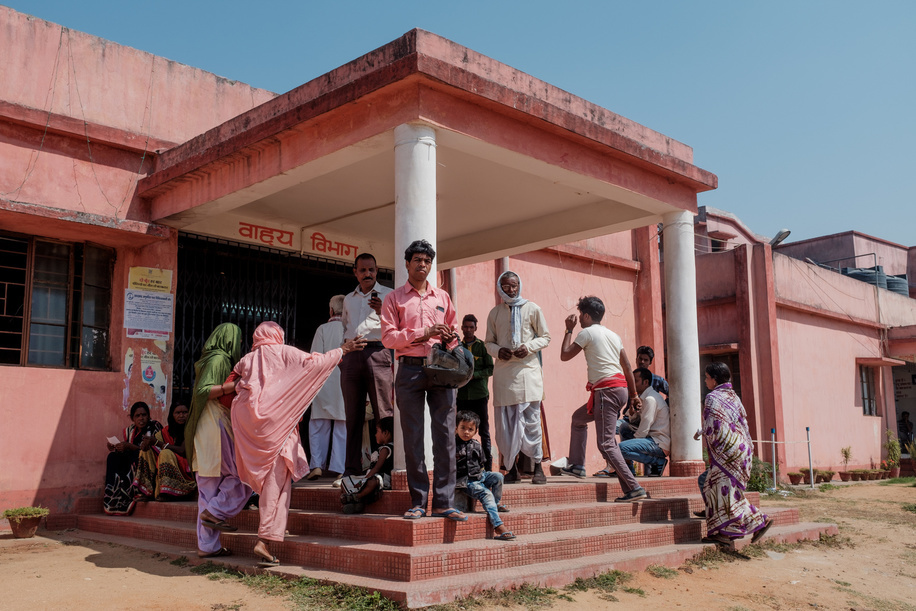 India Vision September 2019  Exterior shot of Sadar Hospital, Ramgarh.