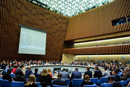 145th session of the WHO Executive Board, Geneva, Switzerland, 29-30 May 2019  View of the 145th Session of the WHO Executive Board.