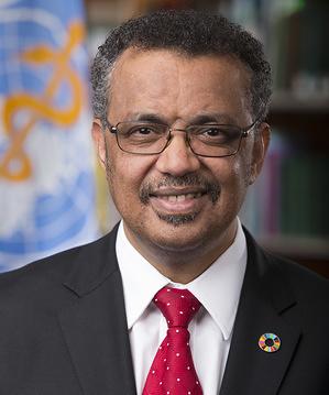 Official portrait of WHO Director-General Dr Tedros Adhanom Ghebreyesus