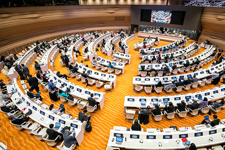 Seventy-Second World Health Assembly, Geneva, Switzerland, 20–28 May 2019  Committee B in session