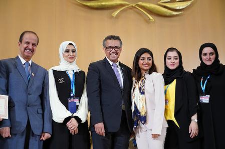 Seventy-Second World Health Assembly, Geneva, Switzerland, 20–28 May 2019  WHO Director-General Dr Tedros Adhanom Ghebreyesus at the Awards ceremony.
