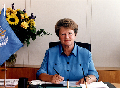 Dr Gro Harlem Brundtland (Norway), former Director-General of the World Health Organization, from 1998 to 2003.