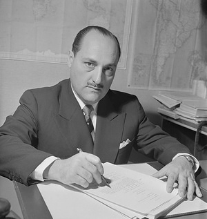 Dr Marcolino G. Candau (Brazil), former Director-General of the World Health Organization, from 1953 to 1973.