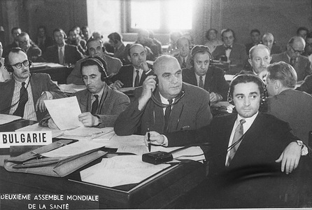 Second World Health Assembly (WHA2), Rome, 13 June - 2 July 1949  Members of the Bulgarian Delegation to the Second World Health Assembly. - Title of WHO staff and officials reflects their respective position at the time the photo was taken.