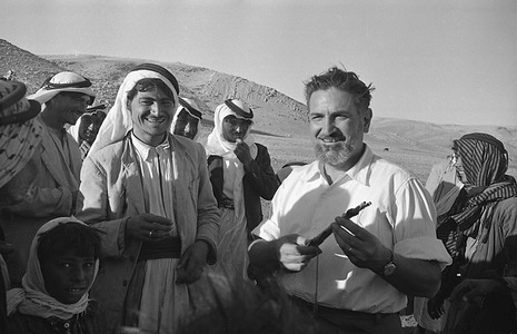 """1958: Dr Luigi Mara spent the last four years in a relentless mosquito hunt all across malaria-ridden Kurdistan in Iraq. He managed to win the confidence of the Kurds, and was known among them as """"Dr Malaria"""". For fifteen years, Dr Malaria has led a """"nomadic life"""" himself, going """"on his rounds"""" in Eritrea, India, Switzerland, Liberia, Sierra Leone, Gambia, the Sudan and Iraq - first on behalf of the health department of Italy and then as a malariologist of the World Health Organization. In 1954, Iraq, worried that her economic development was threatened by malaria applied to WHO for help. And the most seriously threatened part of the country, Kurdistan, was entrusted to Dr Malaria.  Here, Dr Malaria is an honored guest at the wedding of a Bedouin chieftain and the daughter of a Kurd chieftain."""