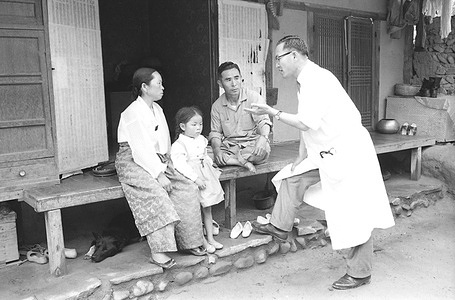 """The story of Kim In Soon - Perhaps 100,000 people suffer from leprosy in Korea - most of them are undiscovered and untreated. To find out the real extent of this disease and to prepare for a nation-wide public-health approach to leprosy control, the Korean Government in 1961 with the help of WHO established a leprosy control project in the province of Kyungaan Pukdo. This project covers many phases, from case-finding to health education. Kim In Soon, a six-year old from the village of Wedong Nyun, in Southern Korea, was doing her first year in school; when a WHO assisted mobile leprosy team found her symptoms of leprosy. Thanks to early diagnosis and modern drugs, Kim In Soon was able to continue leading her normal life. All she had to do was to take her sulfone tablets regularly.  The doctor who examined Kim In Soon in school came to see her parents. Her father and mother did not look happy to see him so she stopped playing in the yard to join her parents who were listening to what he had to say. Dr Youn Keun Cha was telling them that In Soon had early symptoms of leprosy. He explained that the disease is just an infectious disease and, if found early enough, it can be cured completely. But the doctor was interested in knowing something else """"Do you have someone in the family afflicted with leprosy?"""" he asked them. The father was quick to reply : """"No one""""! The doctor did not want to press the matter but told In Soon's parents that she will have to take regular treatment with sulfone tablets."""