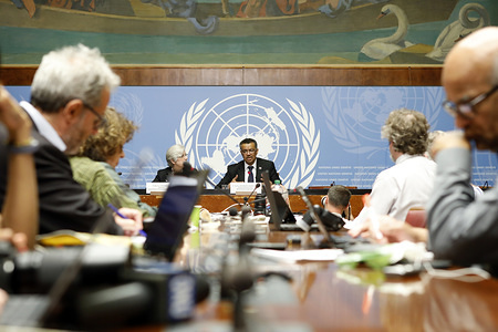 Seventieth World Health Assembly, Geneva, Switzerland, 22-31 May 2017  Dr Tedros Adhanom Ghebreyesus responding to questions from journalists, during the post-election press conference.