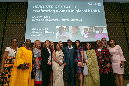 Seventy-first World Health Assembly, Geneva, Switzerland, 20-26 May 2018.  PMNCH and Partner Events at the 71st World Health Assembly. Heroines of Health: Celebrating Women in Global Health with WHO Director-General, Dr Tedros Adhanom Ghebreyesus.