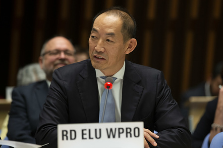 Appointment of WHO Regional Director for Western Pacific , Dr Takeshi Kasai.  Title of the WHO staff and officials reflects their respective position at the time the photo was taken.