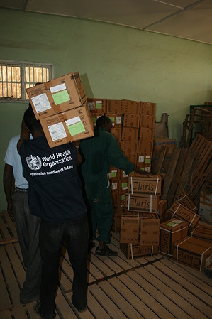 Delivery of WHO Medical supplies in Hargeisa, Somalia, March 2011 - Caption was not provided by the photographer. Therefore, a generic caption has been applied to this image.