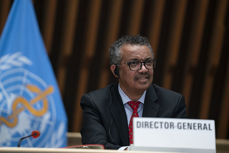 147th session of the WHO Executive Board, Geneva, Switzerland, 22 May 2020.  WHO Director-General,  Dr Tedros Adhanom Ghebreyesus during the opening of the 147th session of the Executive Board. The 147th session  was held virtually on Friday 22 May 2020.
