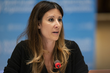 ACANU (Association of Accredited Correspondents at the United Nations) Press Briefing Update on COVID-19 at WHO headquarters, Geneva, Switzerland, 3 July 2020.  WHO Technical Lead on the COVID-19 Dr Maria Van Kerkhove.  Title of WHO staff and officials reflects their respective position at the time the photo was taken.