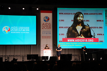 The 22nd International AIDS Conference : Breaking Barriers, Building Bridges - Amsterdam, 23-27 July 2018  The International AIDS Conference is the largest conference on any global health issue in the world. First convened during the peak of the AIDS epidemic in 1985, it continues to provide a unique forum for the intersection of science, advocacy, and human rights. Each conference is an opportunity to strengthen policies and programmes that ensure an evidence-based response to the epidemic.  The Austrian singer, Conchita Wurst adresses the opening session.  read more: http://www.aids2018.org