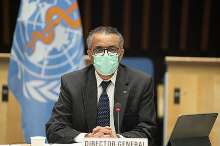 147th session of the WHO Executive Board, Geneva, Switzerland, 16 November 2020  (resumed)  The 147th session of the WHO Executive Board was held virtually.  WHO Director-General, Dr Tedros Adhanom Ghebreyesus.