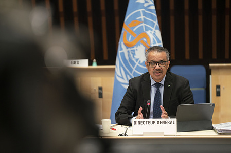 148th session of the WHO Executive Board, Geneva, Switzerland, 21 January 2021  WHO Director-General, Dr Tedros Adhanom Ghebreyesus's remarks following the intervention by Chief Medical Advisor to the United States of America's President, Dr Anthony S. Fauci.  Transcription WHO Director General: https://www.who.int/director-general/speeches/detail/who-director-general-s-remarks-at-the-148th-session-of-the-executive-board  Transcription Dr. Anthony S. Fauci : https://www.justtherealnews.com/exec-depts/health-human-services/dr-anthony-s-fauci-remarks-at-the-world-health-organization-executive-board-meeting/