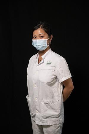 Ai-Linh Riba Volta, 25, works as an ER (Emergency room) nurse at the Hospital Clinic de Barcelona in Barcelona, Spain.