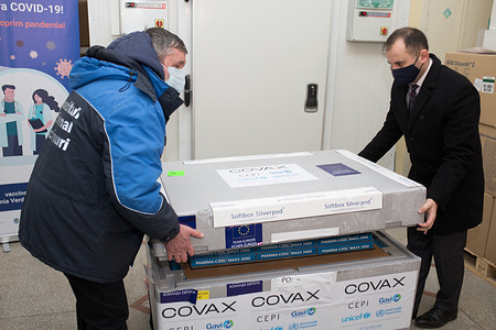 On 4 March 2021, COVID-19 vaccines are offloaded at Chisinau International Airport In the Republic of Moldova. The shipment of an initial 14 400 doses marked the first COVAX delivery in the European Region.   COVAX, the vaccines pillar of the Access to COVID-19 Tools (ACT) Accelerator, is co-led by the Coalition for Epidemic Preparedness Innovations (CEPI), Gavi, (the Vaccine Alliance Gavi) and the World Health Organization (WHO) – working in partnership with developed and developing country vaccine manufacturers, UNICEF, the World Bank, and others. It is the only global initiative that is working with governments and manufacturers to ensure COVID-19 vaccines are available worldwide to both higher-income and lower-income countries. vaccine, vaccines